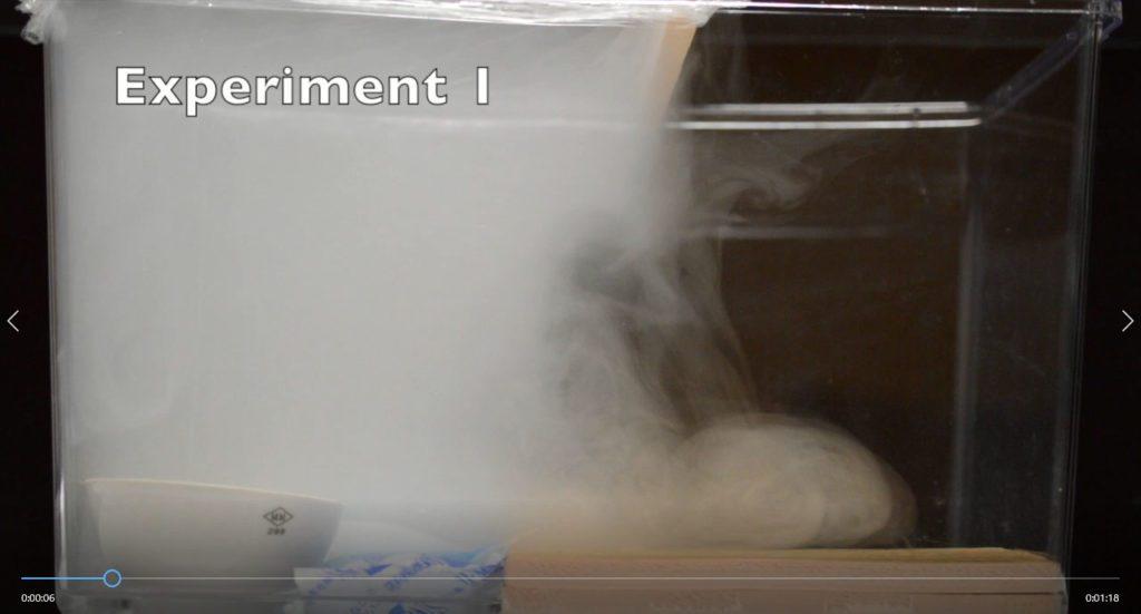 空気を使った前線のモデル実験