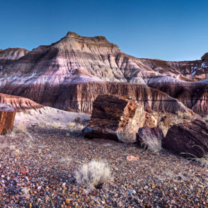 恐竜の卵が見つかったゴビ砂漠の化石産地。モンゴル南部バヤンザグ地域