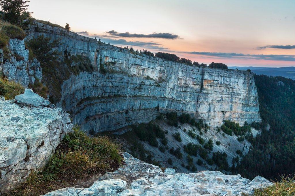 クリュ・デュ・ヴァン(ジュラ紀の石灰岩にできたカール地形)