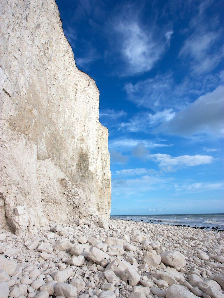 ビーチー岬のチョークの崖(イギリス)