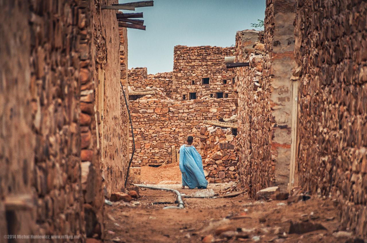 モーリタニア北西部、ウワダン(Ouadane)の集落